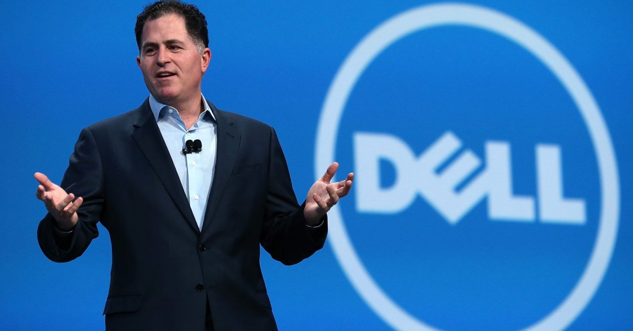 Dell manager on stage