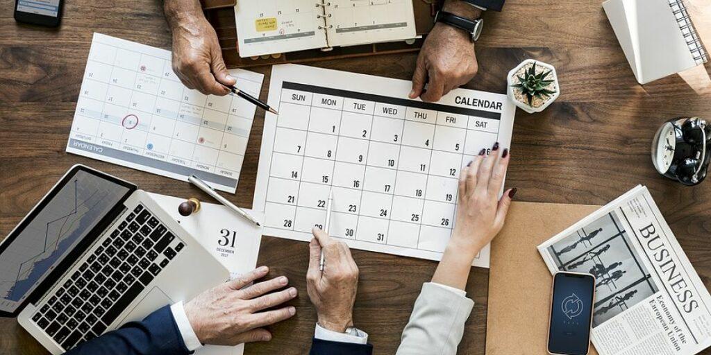 hands calendar
