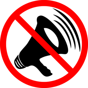 stop sign and megaphone