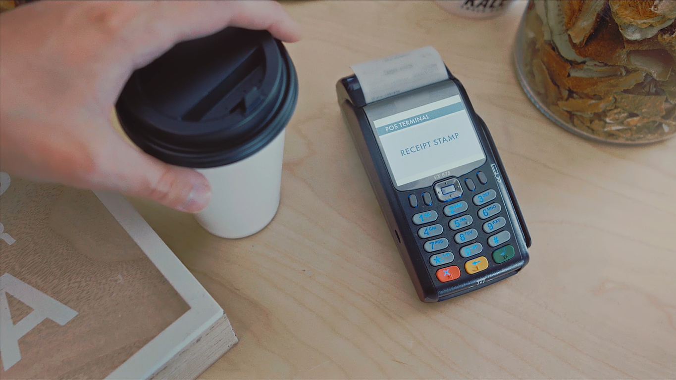 Contactless payment by phone. Stock. Payment for purchase