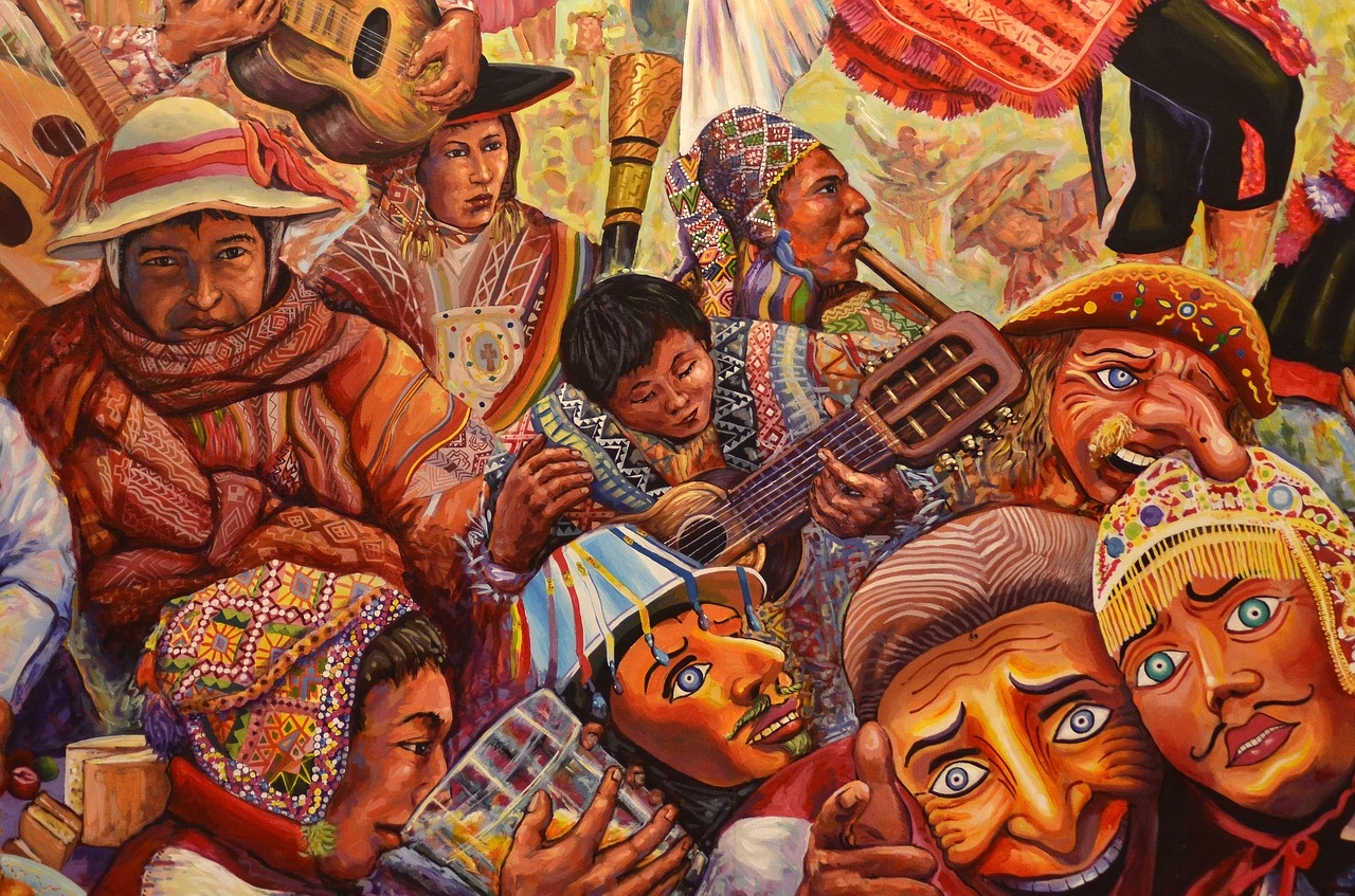 A painting from Cusco Peru