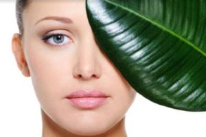 woman's face leaf