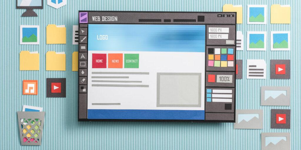 Paper cutout of computer screen