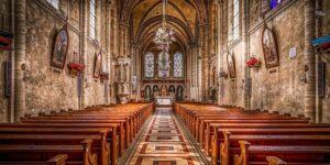 church pews altar