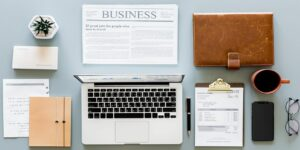 paperworks business computer smartphone