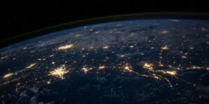 earth lights environment globe planet science