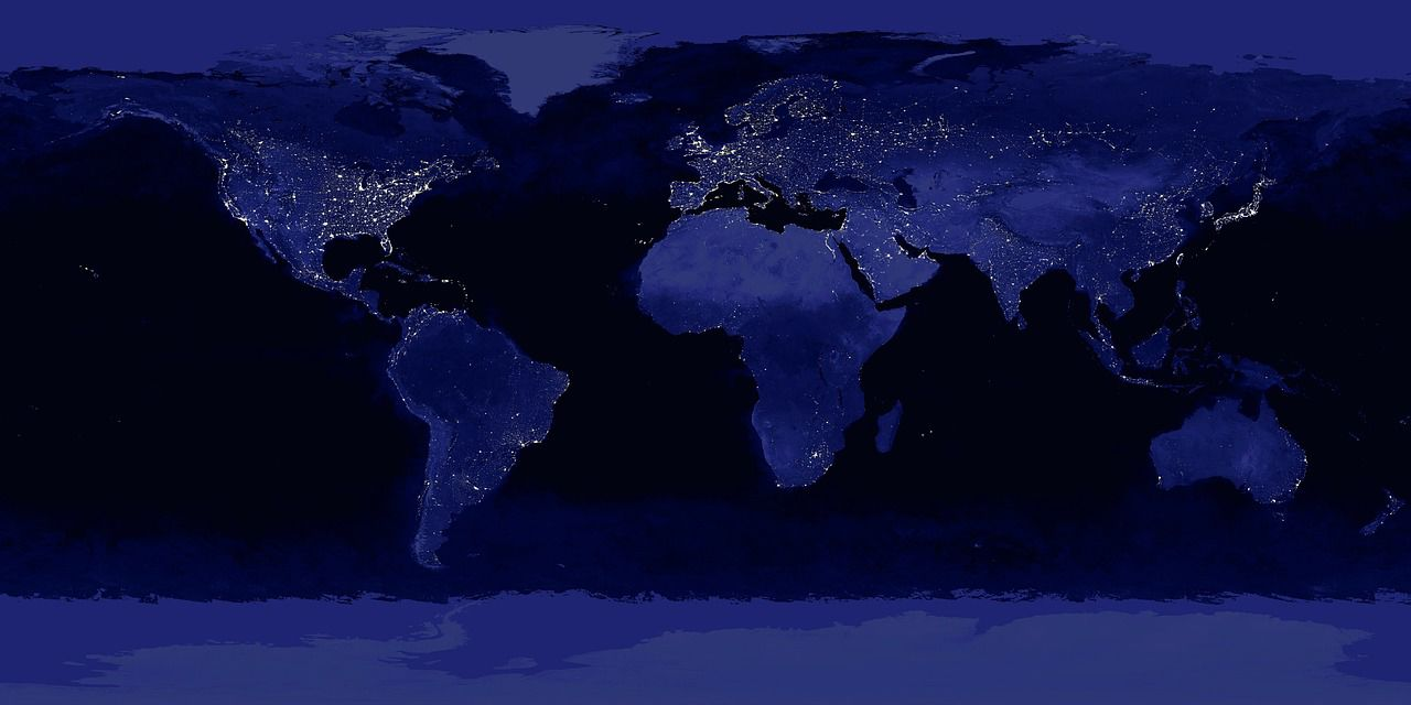 earth world lighting height globe global