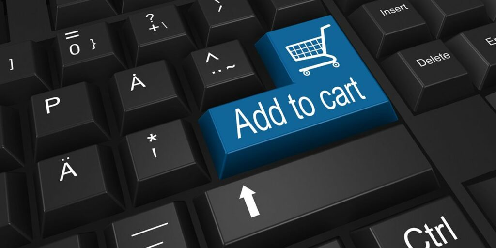 online shopping keyboard add to cart