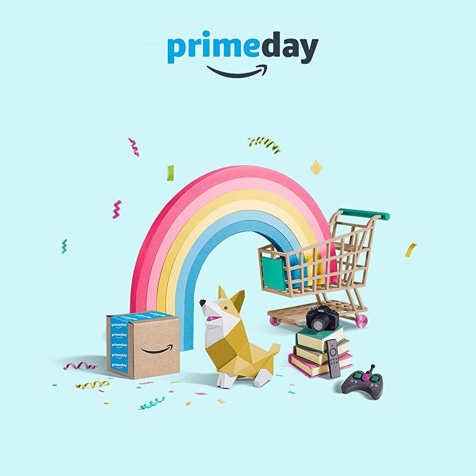 primeday dog rainbow shopping cart