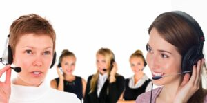 call center headset customer service