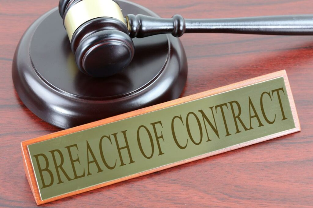 contract breach gavel breach of contract