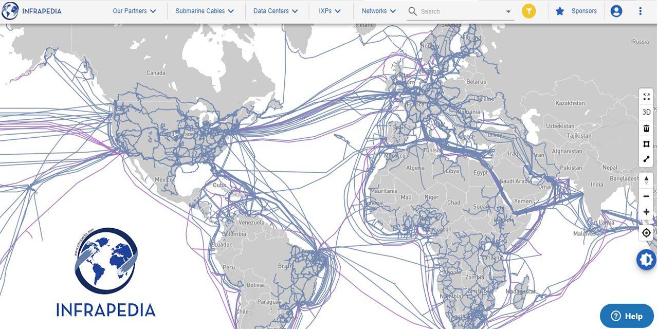 infrapedia map