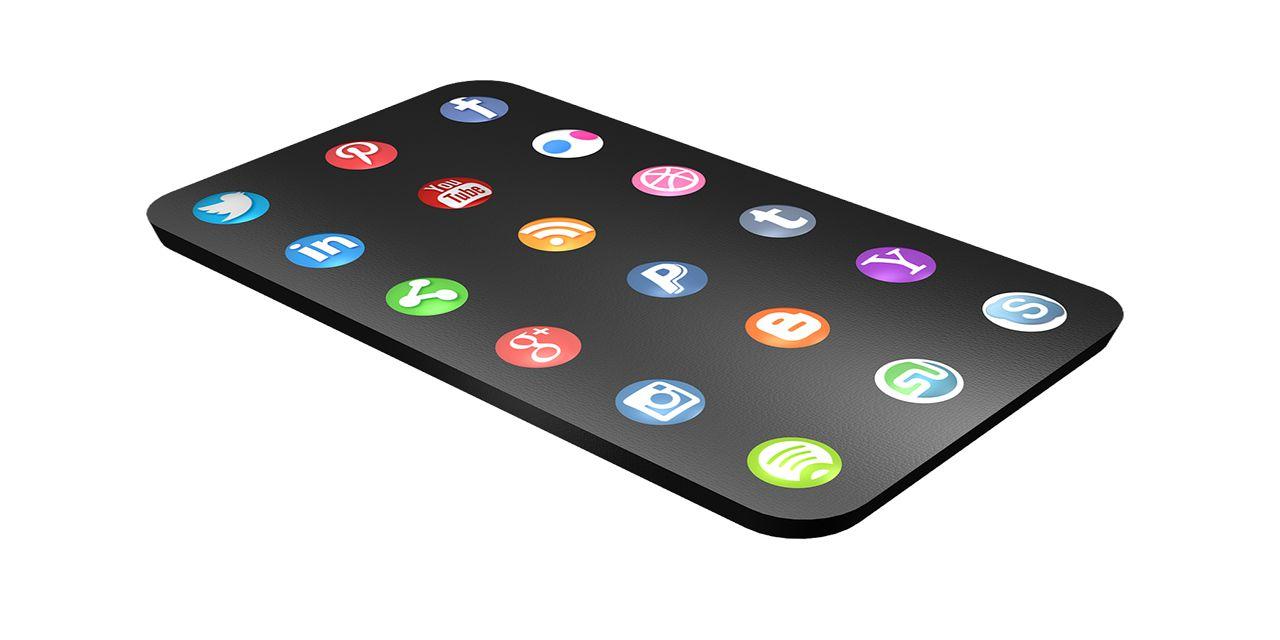 media social icon marketing mobile Facebook Twitter