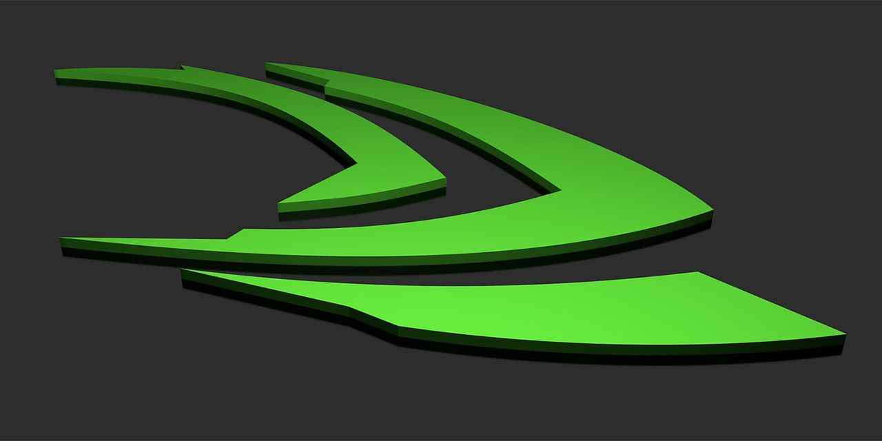 NVIDIA logo PC game green abstract 3D