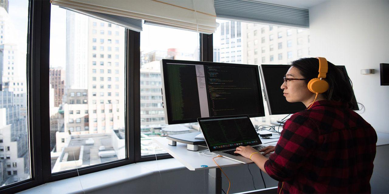 adult coder coding