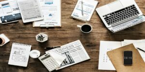desk work business office finance documents
