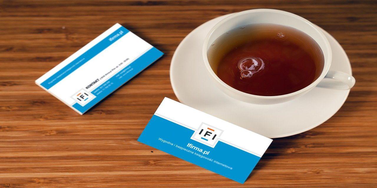 business card company address name logo
