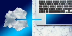 cloud laptop disk space computer keyboard