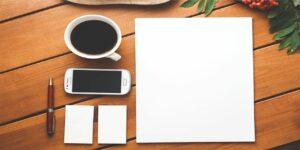 coffee smartphone desk pen