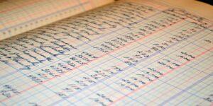 ledger accounting business money balance financial spreadsheet