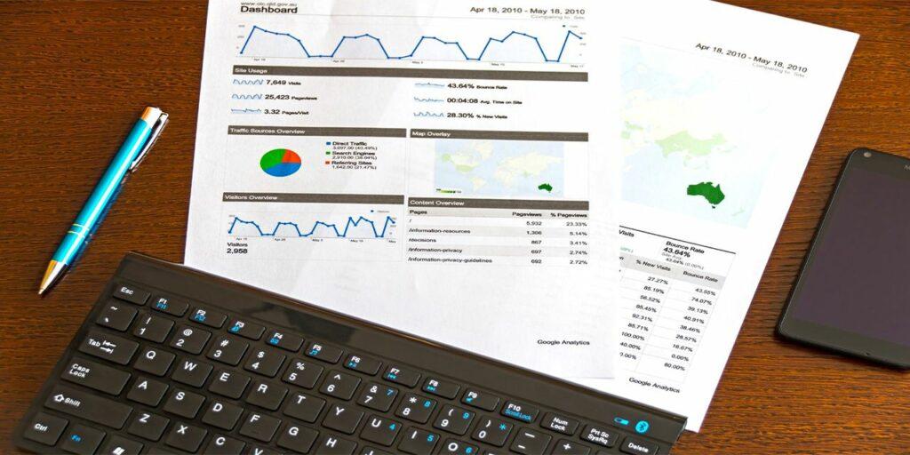 sales blue click pen white documents