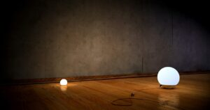 wood flooring with lights
