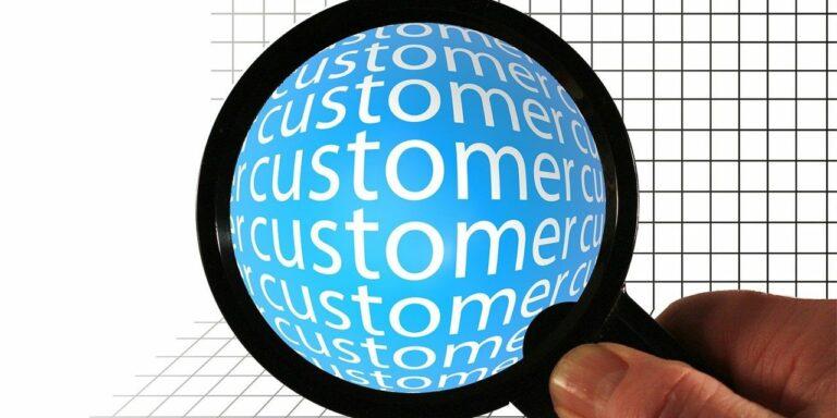ball round customer magnifying glass analysis