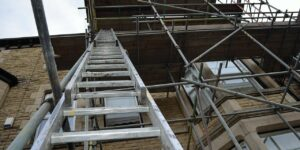 ladder scaffolding architechture construction repair