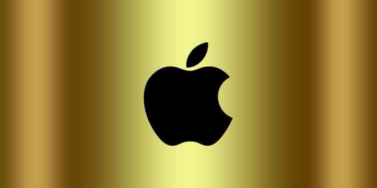 apple logo logo apple golden background wallpaper