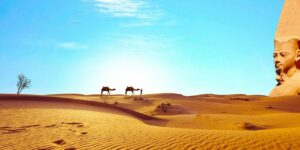 egypt sahara desert dry camels temple to discover