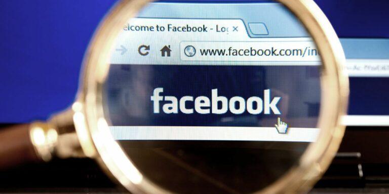 Facebook under magnifying glass