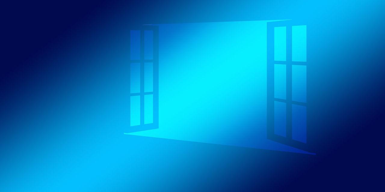 open window blue overlay
