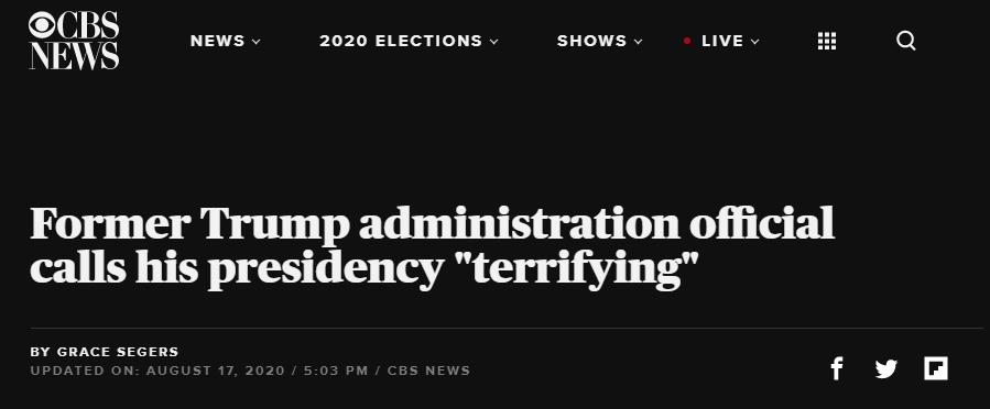 Screenshot CBS News headline