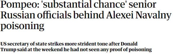 Screenshot The Guardian headline