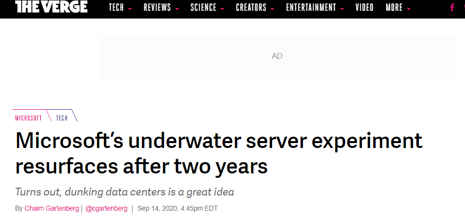 Screenshot from The Verge