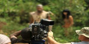 film production film camera camera filmset set