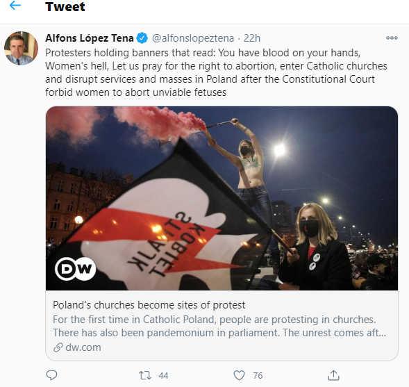 Alfons Lopez Tena's Twitter account