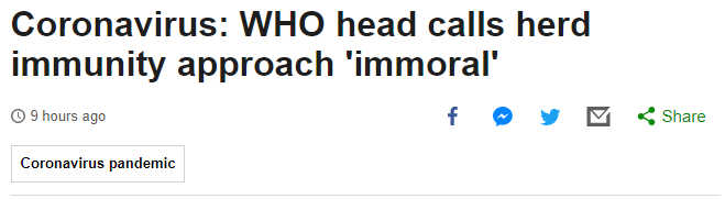 Screenshot from BBC News