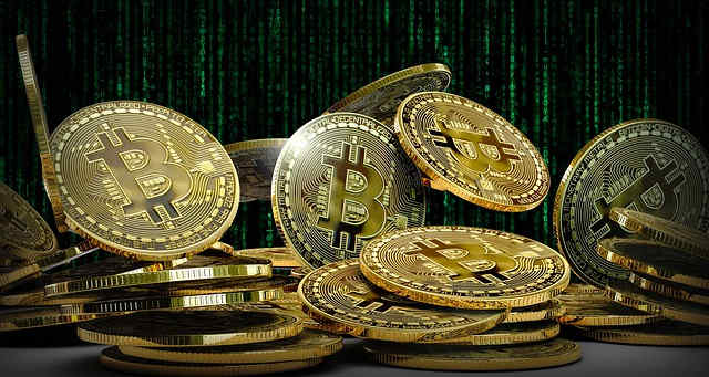 bitcoin coins virtual currency finance cash