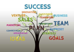 business tree growth success team teamwork profit