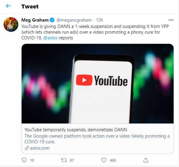 Screenshot from Meg Graham's Twitter