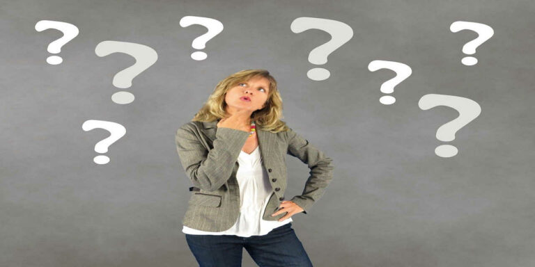 woman question mark person decision thoughtful