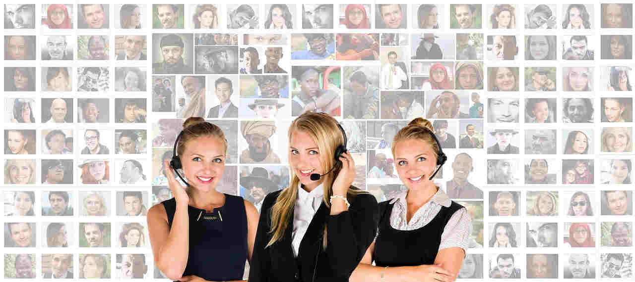 call center headset woman human personal service