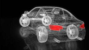 car three dimensional vehicle shape render view