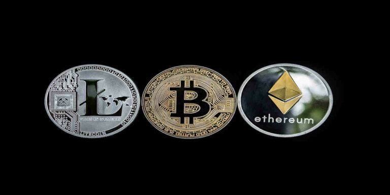 cryptocurrency concept altcoins blockchain money