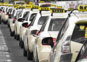 taxi jam traffic strike vehicle auto transport