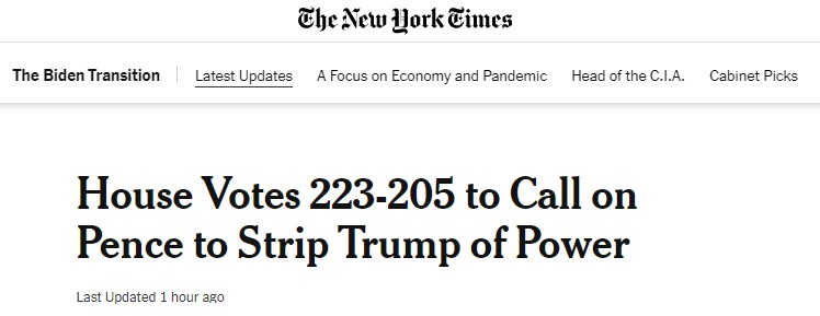 Screenshot from The New York Times