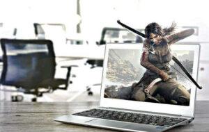 tomb raider laptop office survival realistic 3d