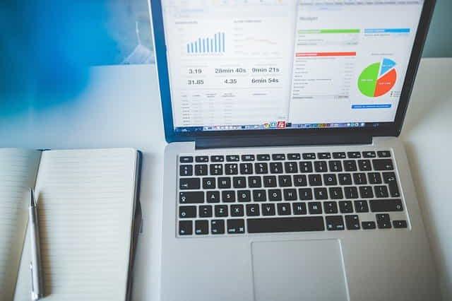 business charts computer electronics laptop