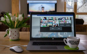 corona church coffee cafe online web meeting